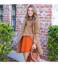 Cute fall look...J.Crew jacket, Club Monaco skirt, Madewell shirt, Tory Burch bag