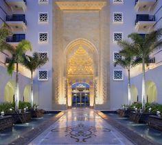 Jumeirah Zabeel Saray Hotel, Dubai - Front Entrance Walkway - dusk
