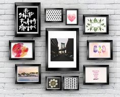 Hang These Free Printables On Your Gallery Walls •Vol. 3 • In the latest roundup, I focus on an eclectic mix of patterns, prints, illustrations and stock photography to freshen up your home decor.
