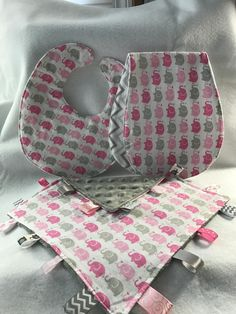Unisex bumble bee baby gift set bib burp cloth lovie bumble pink elephant parade baby gift set bib burp cloth lovie negle Images