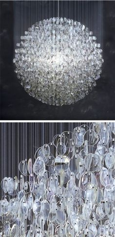 Recycled Glass Chandelier - Foter