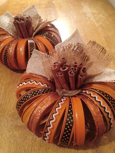 Made by Tracy! Canning ring/lid  pumpkins!                                                                                                                                                                                 More