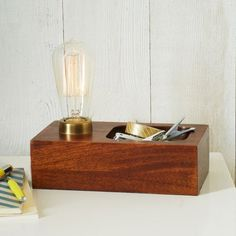 Fancy - Wood Block Bulb Lamp