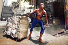 An amazing project created by Hong Kong based photographer Chow Kar Hoo shows mighty superheroes doing the most ordinary everyday things. An amazing project created by Hong Kong based photog Superman, Batman, Wolverine, Thor, Marvel Comics, Hero Spiderman, Top Photos, Superhero Images, Street Marketing