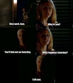 Honestly, THIS is why Spike is good for Buffy.  He never tried to hide anything from her.  You(and Bufffy) always knew exactly what he was thinking.