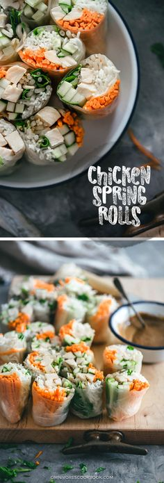 Chicken Spring Rolls Cooking Process