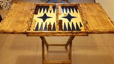 Handmade Tavli in wood. Backgammon Table. by WoodtopiaCyprus