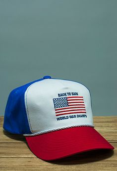 Back to Back World War Champs Rope Hat - Red White Blue by Rowdy Gentleman 0fa48b2c9399