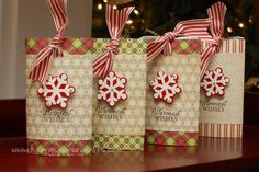Cocoa Sliders - adorable packaging for hot cocoa packets Christmas Craft Fair, Christmas Food Gifts, Christmas Paper Crafts, Holiday Crafts, Christmas Holidays, Theme Noel, Craft Show Ideas, Craft Sale, Homemade Gifts