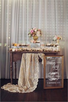 Rustic Chic Escort Card Table with Gold Succulent Escort Card Holders