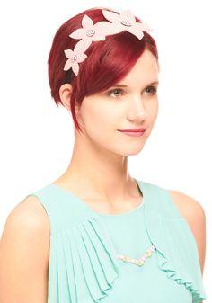 Simply Studding Headband by Ophelie Hats - Wedding, Pink, Solid, Flower, Rhinestones