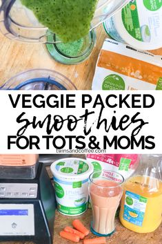 List of 10 Nutrient Dense Smoothies for Toddlers and Moms. veggie packed smoothies for toddlers and moms geared towards picky eaters. Healthy smoothie recipes that help with gut health, and are simple enough to make quickly for your kids. Veggie Smoothie Recipes, Healthy Smoothies For Kids, Toddler Smoothies, Easy Smoothies, Healthy Drinks, Smoothies With Veggies, Toddler Smoothie Recipes, Healthy Food, Nutrition Drinks