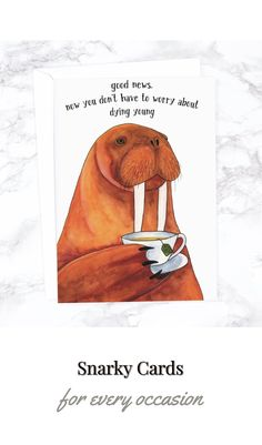 Snarky cards for every occasion