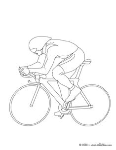 Print out and color this Track cycling sport coloring page. More sports coloring pages on hellokids.com