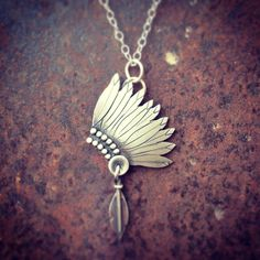 Indian headdress necklace. Silo Silver on facebook!