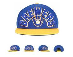 8a16b0fd54207 New Era MLB Milwaukee Brewers Snapback Hats Caps Blue ID 4105
