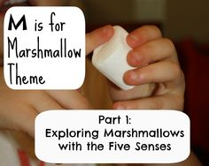 Exploring marshmallows with the five senses. (Fantastic Fun and Learning)
