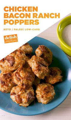 Bacon Ranch Poppers KETO ALERT: Chicken Bacon Ranch Poppers are the guilt-free snack you deserve.KETO ALERT: Chicken Bacon Ranch Poppers are the guilt-free snack you deserve. Ketogenic Recipes, Low Carb Recipes, Diet Recipes, Cooking Recipes, Dessert Recipes, Ketogenic Diet, Kitchen Recipes, Brunch Recipes, Bread Recipes