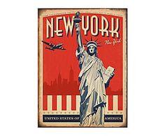 Chapa de hierro New York II - 25x30 cm