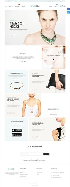 ePro is an advanced WooCommerce #WordPress theme for #jewelry #goldsmiths stunning eCommerce websites with 9 unique homepage layouts download now➩ https://themeforest.net/item/epro-multipurpose-woocommerce-theme/18866210?ref=Datasata