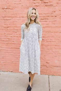 New Girl Stripe Dress | ROOLEE