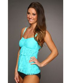 Love this tankini top!!! would be cute with shorts...