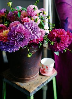 Gorgeous floral photography and styling via Country Style Magazine photo by Lisa Cohen, styling by Indianna Foord