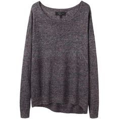 Rag & Bone tanya pullover KRB41SUM13 ($193) ❤ liked on Polyvore featuring tops, sweaters, shirts, jumpers, pullover sweater, blue top, pullover tops, blue jumper and blue sweater