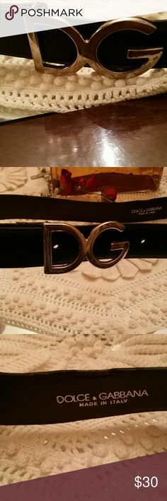 DOLCE & GABBANA BELT!!! A beautiful leather Dolce &  Gabbana  small black belt it has never been used. Accessories Belts