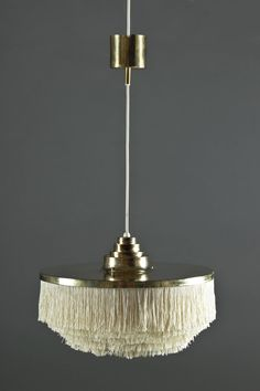Hans-Agne Jakobsson / Brass and silk pendant