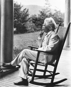 Mark Twain at home.