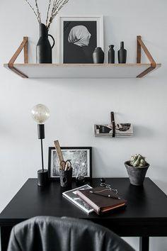 Minimalist Desk + Clean walls