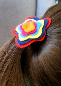 Accesorios para cabello de fieltro - Cartulina