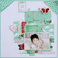 Patricia Roebuck - Sweet Moment  Minty greens! Plus check out the layering.