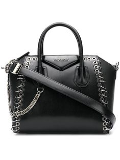 c6cc9c14ec94 Givenchy black Antigona eyelet leather tote Givenchy Antigona