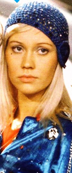Crocheted hats like the one ABBA's Agnetha wore for the Eurovison singing contest.