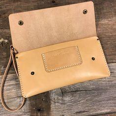 Leather Clutch 10x5 with Wristlet
