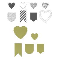 Stampin Up Hearts a Flutter Bundle. Love the stamp set and the matching framelit dies are well worth buying as well.