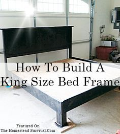 the homestead survival how to build a king size bed frame homesteading frugal - Diy King Size Bed Frame