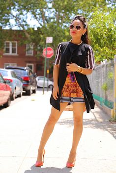 The trend very few try, MIXING PRINTS is on http://www.nytrendymoms.com/2013/08/mixing-prints.html