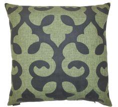 Harlow-Green Throw Pillow