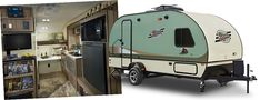 r-pod Travel Trailers by Forest River RV -- this little guy sleeps six with a bunk option.