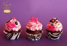 """Sugar Decorations for Cupcakes """" Beauty Set"""" / Zucker Dekorationen für Cupcakes """"Beauty Set"""" Kava Dolce Collection by Günthart"""