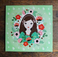 """""""Jeune fille en fleurs"""" painting (via Etsy)"""