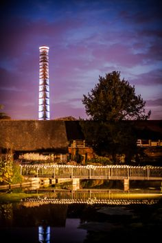A night time shot of the chimney.  Part of what I guess was the mill that gave Turkey Mill its name (before it was The Orangery!)