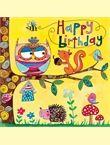 JIG34 Happy Birthday - Woodland Creatures