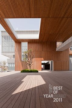 Timber Cube, Times Clubhouse & Commercial Complex by CL3 Architects Limited.