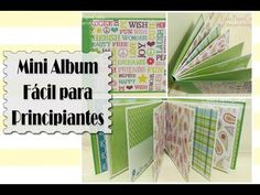 TUTORIAL Mini Album fácil para principiantes - Scrapbook DIY