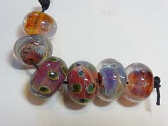 Lampwork Beads Borosilicate SUNRiSE Two Sisters Designs 123114B by TwoSistersDesignss on Etsy