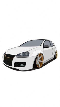 Vw Scirocco, Bora Tuning, Audi R8 V10, Jetta A4, Car Animation, Cool Car Drawings, Car Vector, Car Illustration, Illustrations